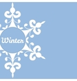 Winter background with abstract snowflake vector image