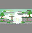 2d tileset platform game 23 vector image vector image