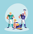 american football team character vector image