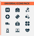 antibiotic icons set collection of bus nanny vector image vector image