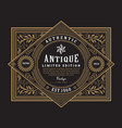 antique frame vintage border western label hand