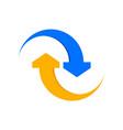 arrow flow symbol connection symbol design vector image vector image