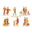 asiatic people at shopping vector image vector image