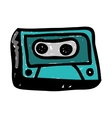 audio cassette doodle icon image vector image