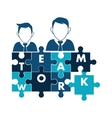 avatar teamwork support design vector image vector image