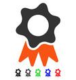 award seal flat icon vector image vector image