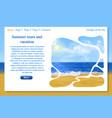 beautiful website designwith sunny beach blue sky vector image