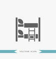 bed icon simple furniture sign vector image vector image