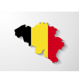 Belgium map with shadow effect vector image