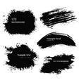 black blobs vector image vector image