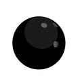 Black bowling ball vector image vector image