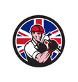 british handyman union jack flag icon vector image vector image