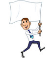 businessman with flag vector image