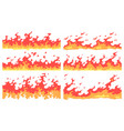 cartoon fire border flame divider bright fire vector image vector image