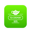 china tea icon green vector image vector image