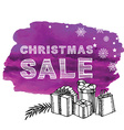 Christmas Poster Sale vector image vector image