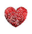 colorful of red heart vector image vector image
