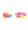 colorful watercolor drips set on white background vector image vector image