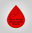 cord blood awareness month logo icon vector image vector image