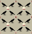 creepy halloween seamless pattern vector image