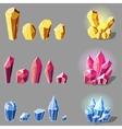 cristals set cartoon vector image vector image