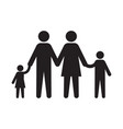 family icon on white background vector image vector image