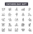 fathers day gifts line icons signs set vector image