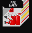 fire safety concept flyer template vector image vector image