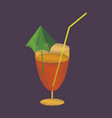 flat shading style icon cocktail vector image vector image