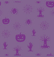 fun halloween icons seamless background vector image