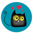 funny enamored cat vector image