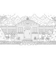 garden house coloring vector image
