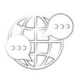 global chat symbol vector image vector image