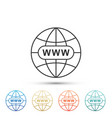 go to web icon www icon world wide web symbol vector image vector image