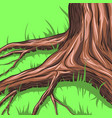 grass around the tree vector image vector image