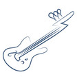 guitar drawing on white background vector image vector image