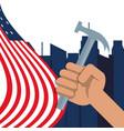 hand symbol to labor day celebration vector image