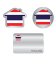 home icon on thailand flag vector image