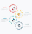 infographics template 4 options with circle vector image vector image