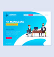 interview landing hr manager director male vector image vector image