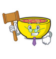 judge soup union mascot cartoon vector image vector image