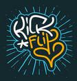 kickflip surf or skateboarding trick elements vector image
