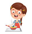 kid cooking meal vector image vector image