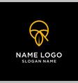 letter q leaf logo vector image vector image