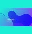 liquid gradient colorful geometric background vector image vector image
