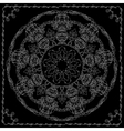 Mandala with contoured floral ethnic decorative vector image vector image