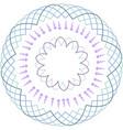 minimalist floral mandala vector image vector image