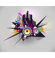 Music urban poster vector image vector image