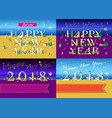 new years cards with beach sea and houses vector image