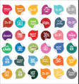 paper sale stickers collection 1 vector image vector image